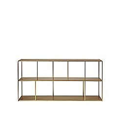 Swoon - Brass 'Aero' low shelving unit