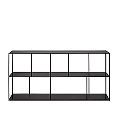 Swoon - Black iron 'Aero' low shelving unit