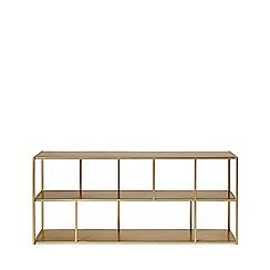 Swoon - Brass 'Aero' small shelving unit
