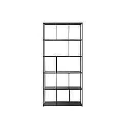 Swoon - Gunmetal 'Aero' wide shelving unit