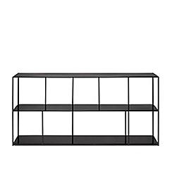 Swoon - Black iron 'Aero' small shelving unit