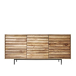 Swoon - Mango wood and charcoal 'Katana' sideboard