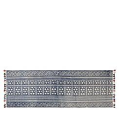 Swoon - Indigo 'Pom' printed rug