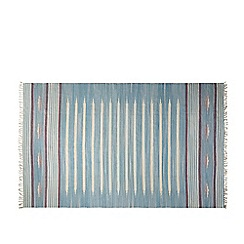 Swoon - Pale blue 'Shakleton' hand-woven rug