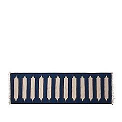 Swoon - Deep ocean blue 'Tabarly' hand-woven runner rug
