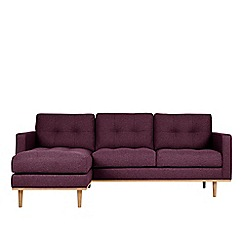 Swoon - Soft wool 'Berlin' left-hand facing corner sofa