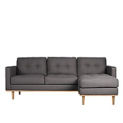 Swoon - Brushed linen-cotton 'Berlin' right-hand facing corner sofa