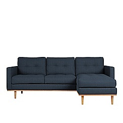 Swoon - House weave 'Berlin' right-hand facing corner sofa