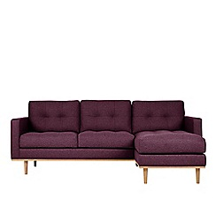Swoon - Soft wool 'Berlin' right-hand facing corner sofa