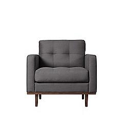 Swoon - Brushed linen-cotton 'Berlin' armchair