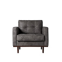 Swoon - Stone leather 'Berlin' armchair
