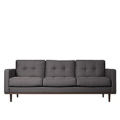Swoon - Three-seater brushed linen-cotton 'Berlin' sofa