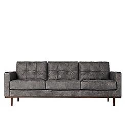 Swoon - Three-seater stone leather 'Berlin' sofa