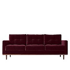 Swoon - Three-seater deep velvet 'Berlin' sofa