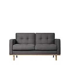 Swoon - Two-seater brushed linen-cotton 'Berlin' sofa