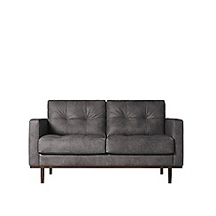 Swoon - Two-seater stone leather 'Berlin' sofa