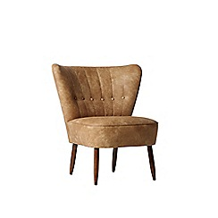 Swoon - Stone leather 'Fitz' chair