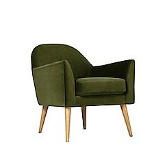 Swoon - Easy velvet 'Juno' armchair