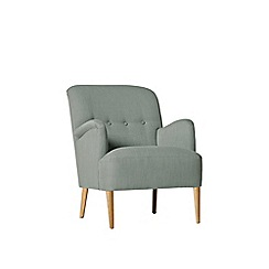 Swoon - Brushed linen-cotton 'London' armchair