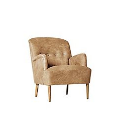Swoon - Stone leather 'London' armchair
