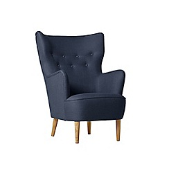 Swoon - Brushed linen-cotton 'Ludwig' armchair