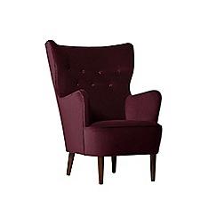 Swoon - Deep velvet 'Ludwig' armchair
