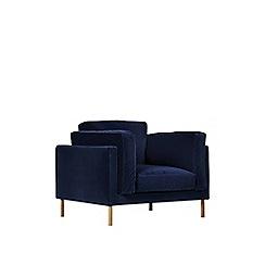 Swoon - Easy velvet 'Munich' armchair