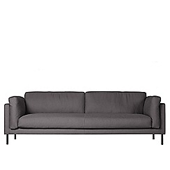 Swoon - Three-seater brushed linen-cotton 'Munich' sofa