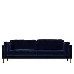 Swoon - Three-seater easy velvet 'Munich' sofa