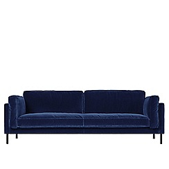 Swoon - Three-seater deep velvet 'Munich' sofa