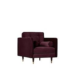 Swoon - Deep velvet 'Porto' armchair