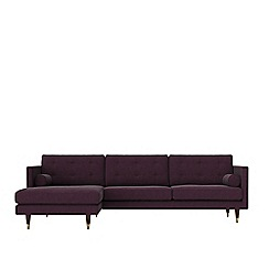 Swoon - Soft wool 'Porto' left-hand facing corner sofa