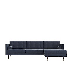 Swoon - House weave 'Porto' right-hand facing corner sofa