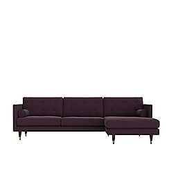 Swoon - Soft wool 'Porto' right-hand facing corner sofa