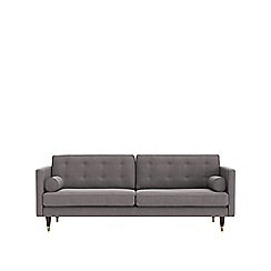Swoon - Three-seater brushed linen-cotton 'Porto' sofa