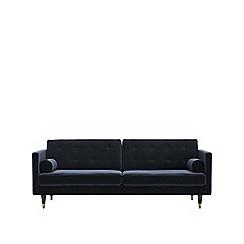 Swoon - Three-seater easy velvet 'Porto' sofa
