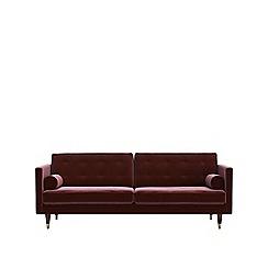 Swoon - Three-seater deep velvet 'Porto' sofa