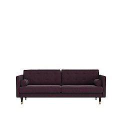 Swoon - Three-seater soft wool 'Porto' sofa