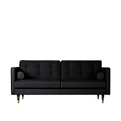 Swoon - Two-seater brushed linen-cotton 'Porto' sofa
