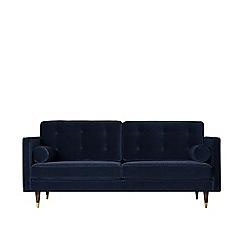 Swoon - Two-seater easy velvet 'Porto' sofa