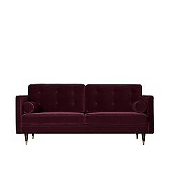 Swoon - Two-seater deep velvet 'Porto' sofa