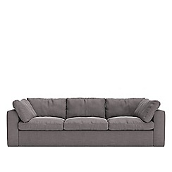 Swoon - Three-seater brushed linen-cotton 'Seattle' sofa