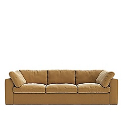 Swoon - Three-seater easy velvet 'Seattle' sofa