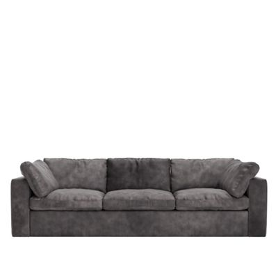 Surprising Two Seater Stone Leather Seattle Sofa Pdpeps Interior Chair Design Pdpepsorg