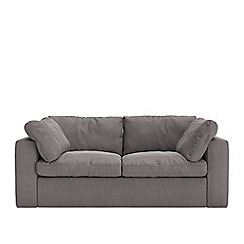 Swoon - Two-seater brushed linen-cotton 'Seattle' sofa