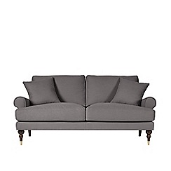 Swoon - Two-seater brushed linen-cotton 'Sutton' sofa