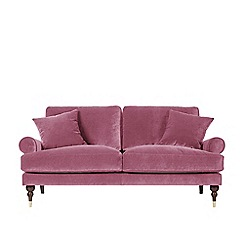 Swoon   Two Seater Easy Velvet U0027Suttonu0027 Sofa