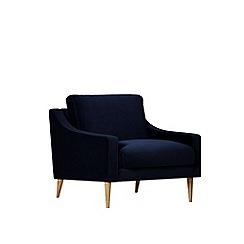 Swoon - Easy velvet 'Turin' armchair
