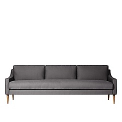 Swoon - Three-seater brushed linen-cotton 'Turin' sofa