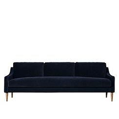 Swoon - Three-seater easy velvet 'Turin' sofa